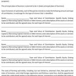 Sample Agreement to Form Business Entity