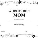 World's Best Mom Certificate #2