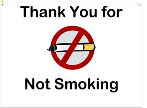 Business No Smoking Sign