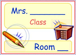 Teacher's Room Sign