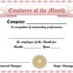 Employee of the Month Certificate #2