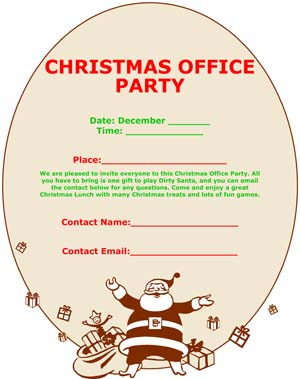 Christmas Party Flyer & Cards - Small Business Free Forms
