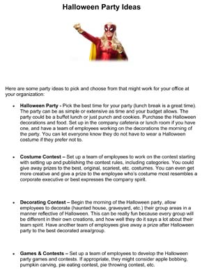 halloween party ideas - Halloween Party Rules