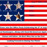 July 4th Office Party Flyer