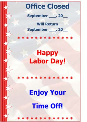 Labor Day  Small Business Free Forms