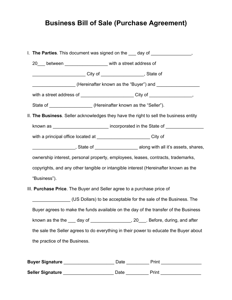 Agreement Contracts Small Business Free Forms