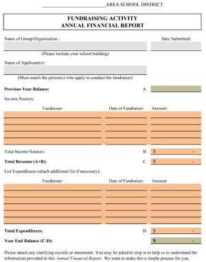 Fundraising Activity Annual Financial Report