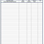 Equipment Inventory List Form