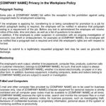 Sample Workplace Privacy Policy