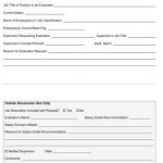 Sample Salary Evaluation Request Form