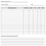 Sample Applicant Rating Form