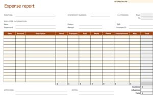 Nice Sample Expense Report  Printable Expense Report