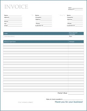 Sample Business Finance Charge Invoice