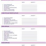 Office Supply List