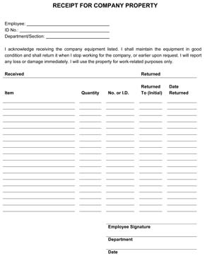 Sample Equipment Lease Request Form