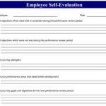 Sample Employee Self Evaluation