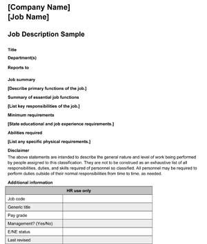 Job Description #2