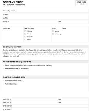 Job Description #3