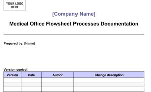 Medical Office Flow-Sheet Processes Documentation (Sample)