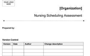 Medical Office Nursing Scheduling Assessment (Sample)
