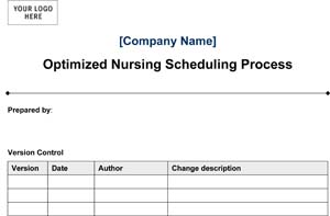 Medical Office Optimized Nursing Scheduling Process (Sample)