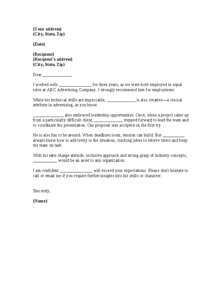 Reference Letter  How To Write A Personal Reference Letter
