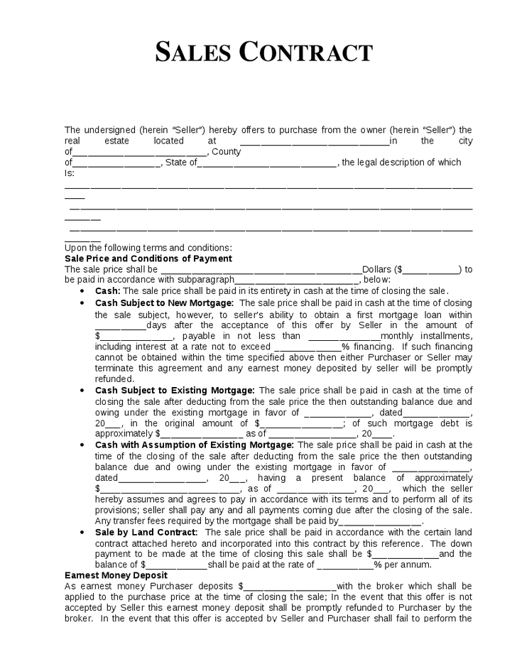 Sales forms small business free forms sales agreement wajeb Choice Image