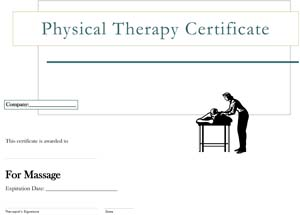 Physical Therapy Massage Certificate