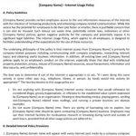 Company Internet Use Policy #2