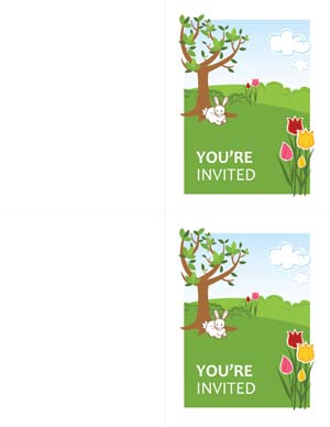 Office Party Invitations for Easter#2