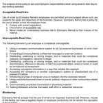 Employee Email Policy (Sample)