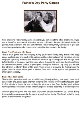 Fathers Day Party Games