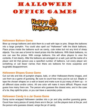 Halloween Office Party Games