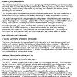 Sample Hazard Communication Program Package