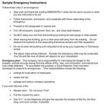Sample Workplace Emergency Instructions