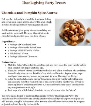 Thanksgiving Office Party Treats/Recipes