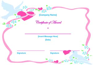 Valentines Day Certificate #2