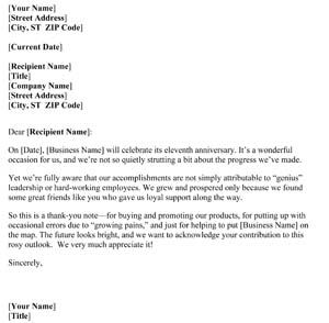 Thank You Letter To Clients For Their Business from www.smallbusinessfreeforms.com