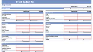 Business Event Budget