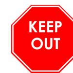 Business Keep Out Sign