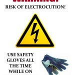 Warning of Electrocution Sign