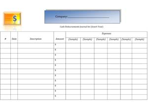 cash disbursement journal template - business cash disbursements journal small business free