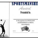 Men's Volley Ball Award Certificate