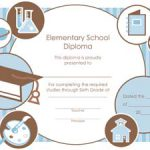 Elementary School Diploma Certificate