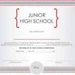 Junior High School Diploma Certificate
