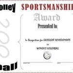 Women's Volley Ball Award Certificate