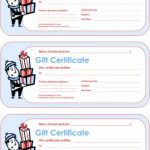 Christmas Gift Certificate #1