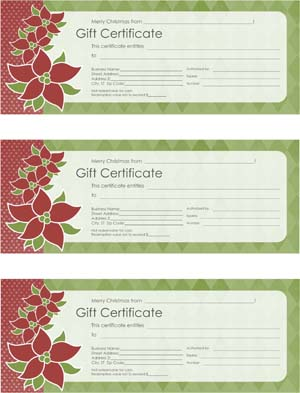 Christmas Gift Certificate #2