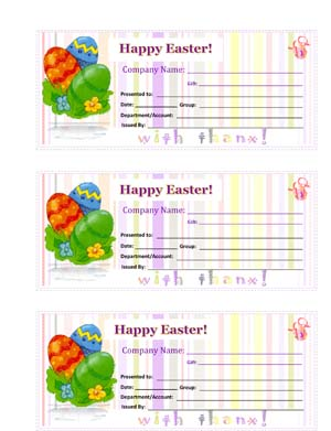 Easter Gift Certificate Templates