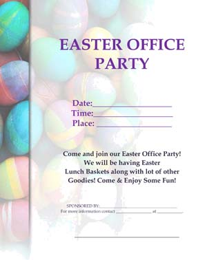 Easter Office Party Flyer